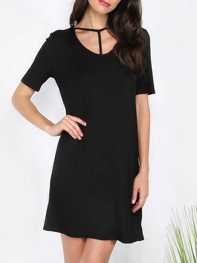 Black Short Sleeve Dress