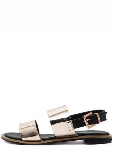Gold Metallic Open Toe Sandals