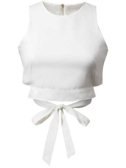 Zipper Bow Tie Tank Top