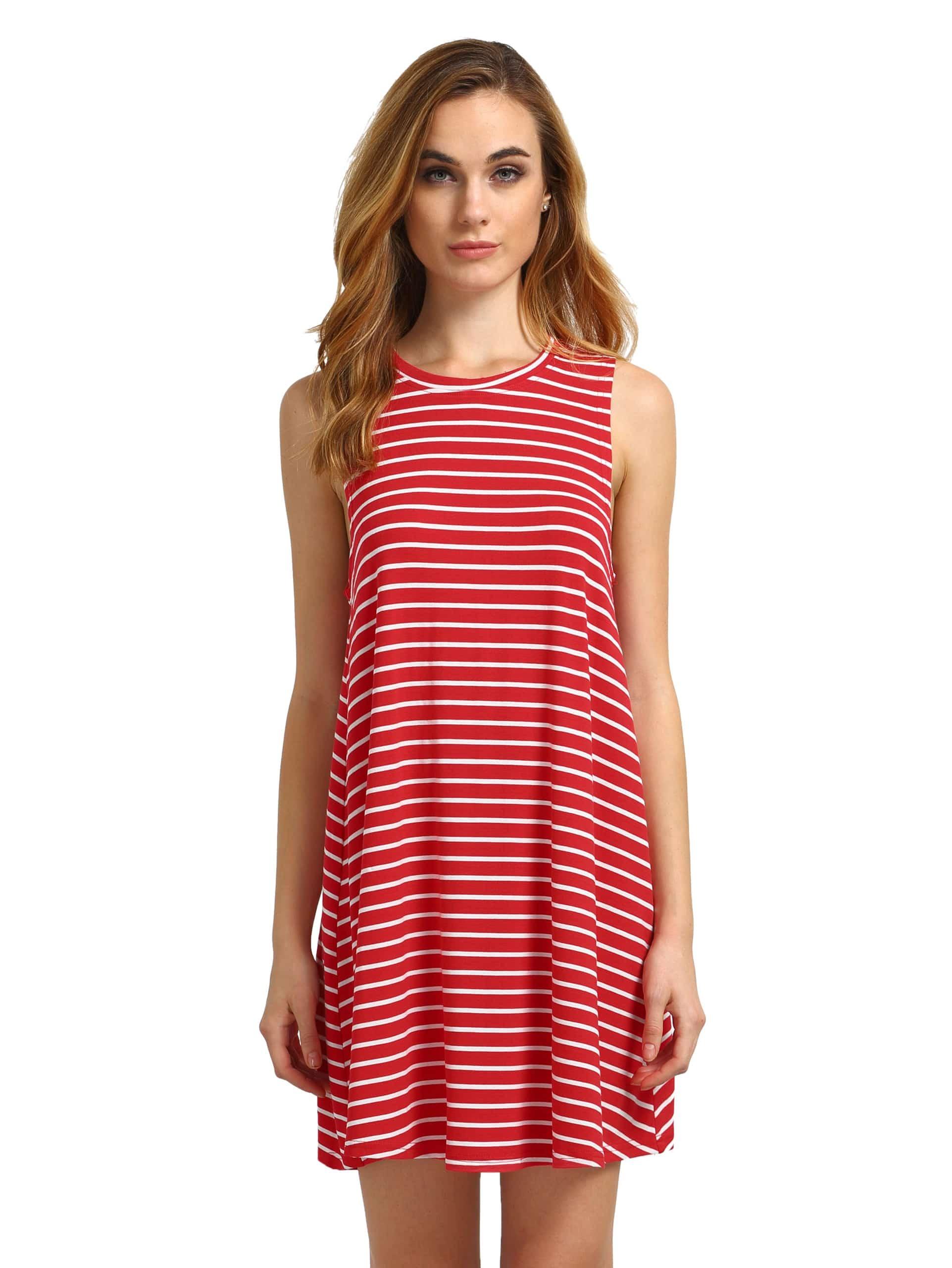 Фото Striped Swing Tank Dress. Купить с доставкой
