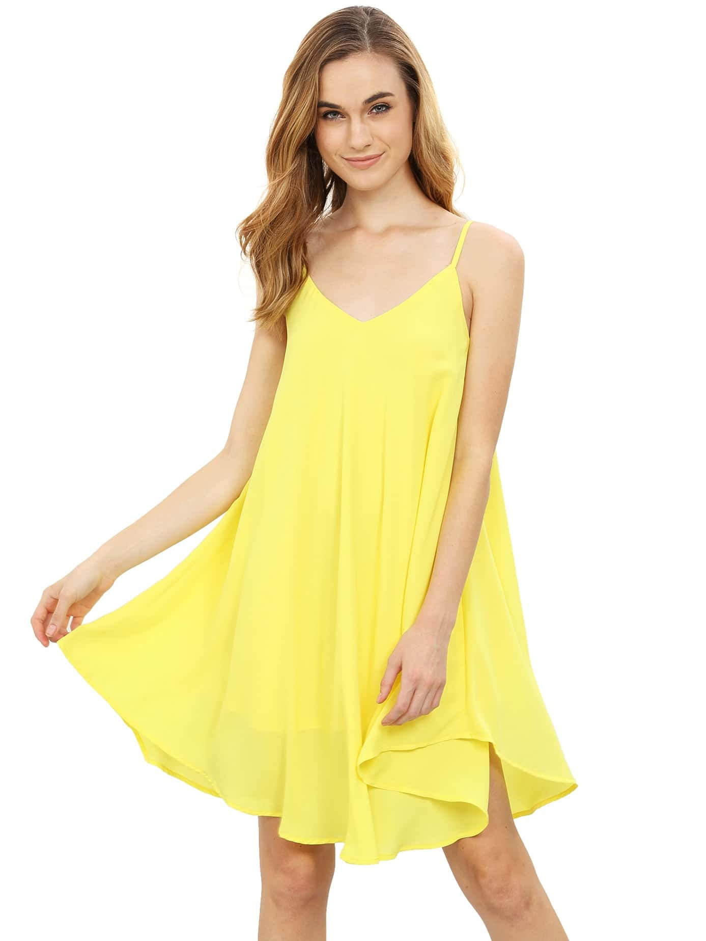 Фото Spaghetti Strap Asymmetrical Shift Dress Sundresses. Купить с доставкой