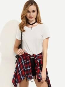 Camiseta escote redondo - blanco