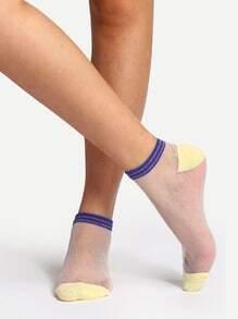 Socquettes transparentes confortables