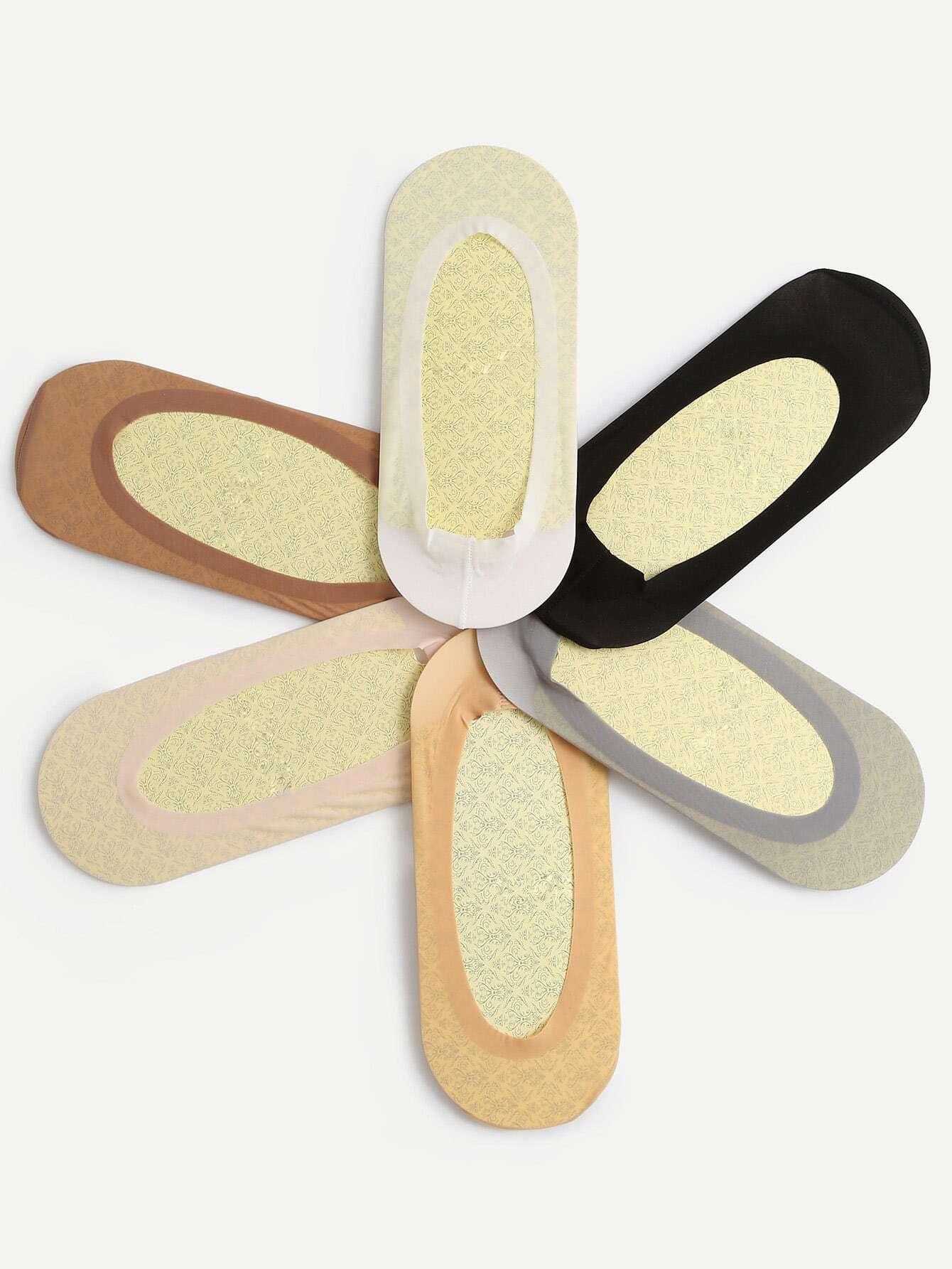 1 Pairs Non-slip Boat Socks - Color At Random