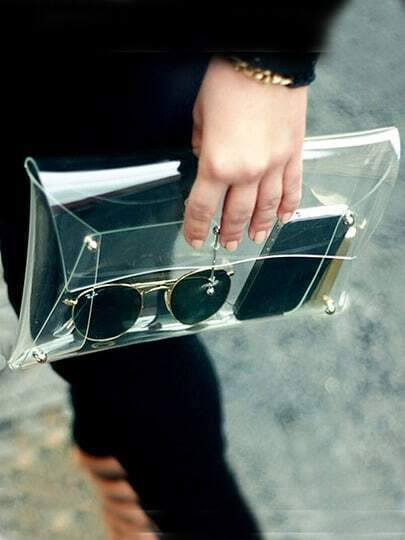 Transparent Envelope Clutch Bag