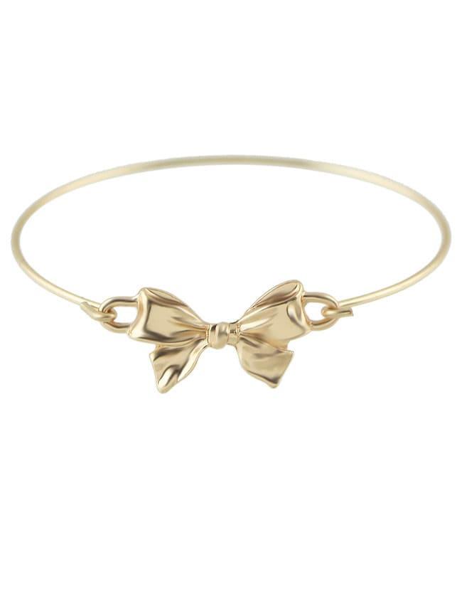 Gold Bowknot Cuff Bangle
