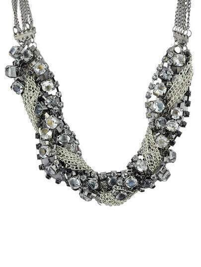 Crystal Full Rhinestone Chain Necklace