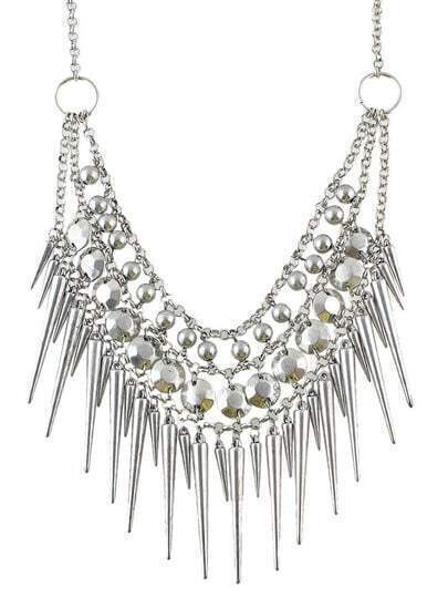 Steampunk Spike Collar Necklace