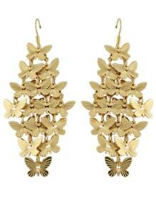 Gold Butterfly Drop Earring
