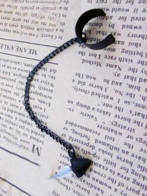 Фото Fashionable Individual Black Chain Ear Clip. Купить с доставкой