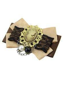 Alloy Bowknot Beauty Brooch For Wedding
