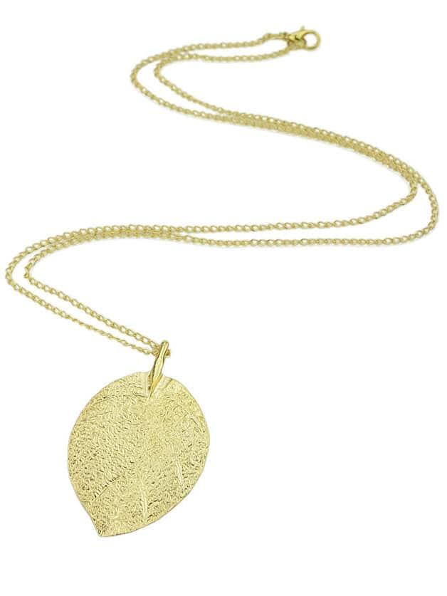 Фото Gold Leaf Pendant Necklace. Купить с доставкой
