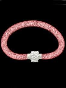 Bracelet incrusté de diamant -rouge