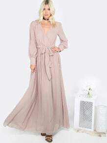 Flowy Gathered Maxi Dress MOCHA