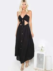 Sweetheart Bow A-line Dress BLACK