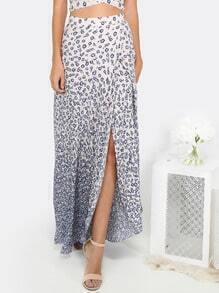 Floral Slit Maxi Skirt MULTI