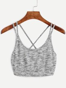 Cross Back Crop Cami Top