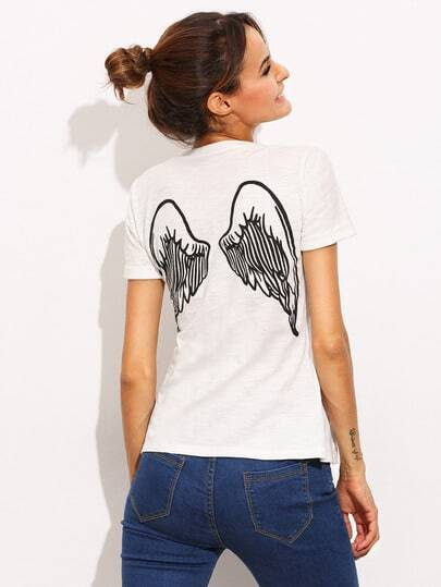 Back Wing Print T-shirt