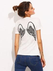 Back Wing Print T-shirt