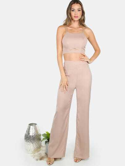 Wide Leg Matching Set MOCHA