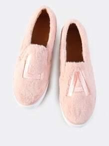 Faux Fur LA Slip On Sneakers BLUSH