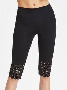 Laser Cut Short Leggings
