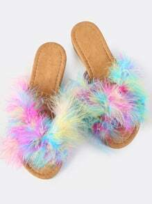 Colorful Furry Slides MULTI