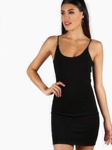 Basic Slip On Bodycon Dress BLACK
