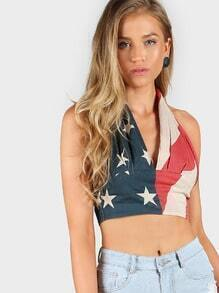 Stars and Stripes Halter Top MULTI