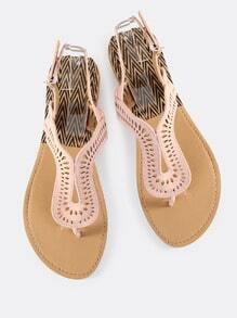 Cutout Loop Thong Sandals BLUSH