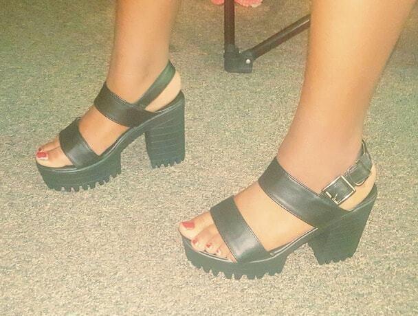 Wearing 185cm single sole stiletto heels 6