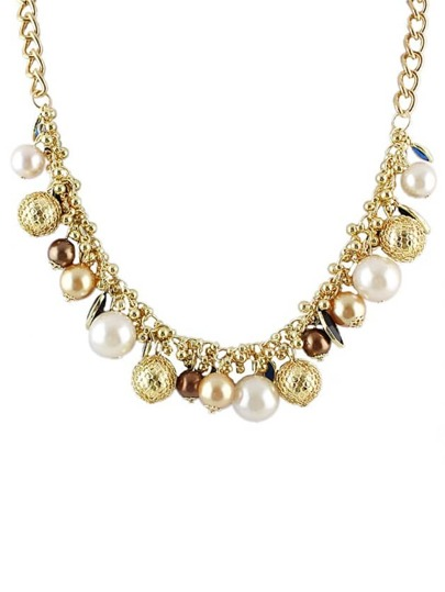 Latest Design White Women Beads Necklace