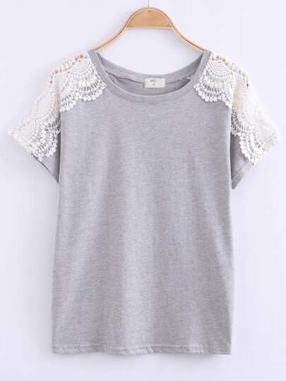 Crochet Raglan Sleeve T-Shirt