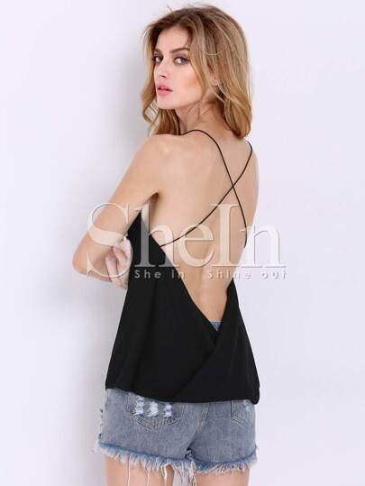 Criss Cross Backless Loose Cami Top