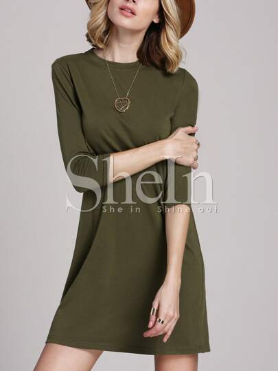 Army Green Designs Casual Dress