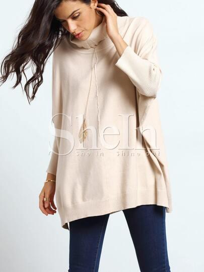 Apricot Long Sleeve Turtleneck Sweater