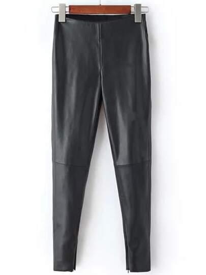 Black High Waist Slim Pant