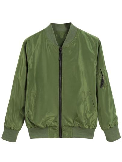 Stand Collar Zipper Jacket