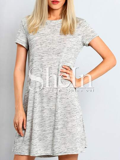 Grey Tees Short Sleeve Casual Dress
