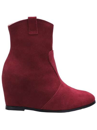 Burgundy Pointy Within Higher Boots