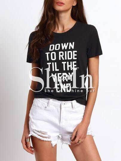 t-shirt imprimé -noir