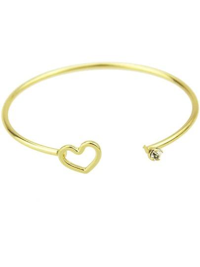 Gold Hollow Heart Bracelet
