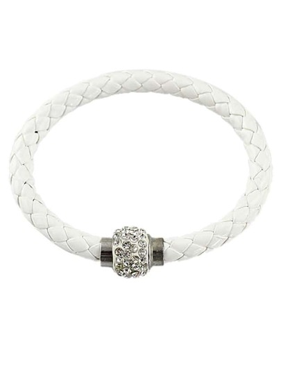 White Weave Diamond Bracelet
