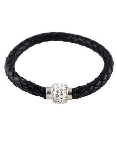 Black Weave Diamond Bracelet