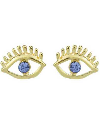 boucles d'oreille motif œil -bleu