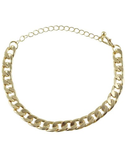 Bracelet en chaîne -doré