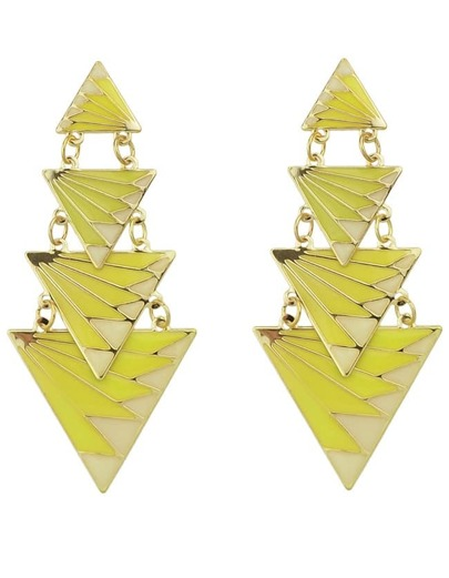 Yellow Triangle Splice Earrings