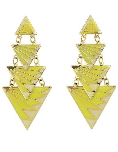 Boucles d'oreille en forme de triangle -Jaune