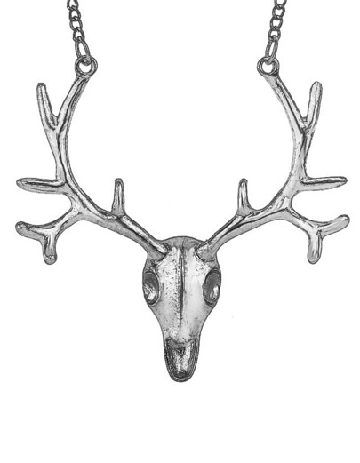 Silver Deer Chain Necklace