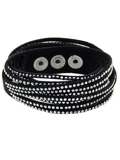 Black Diamond Multilayers Bracelet